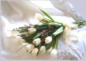 Ramo de Tulipanes blancos para novia