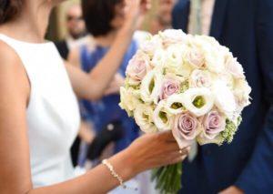 Rosas en Ramo de Flores para novias